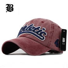 [FLB] 100% Washed Denim Baseball cap Snapback Hats Autumn Summer Hat for Men Women Caps Casquette hats Letter Embroidery Gorras(China)