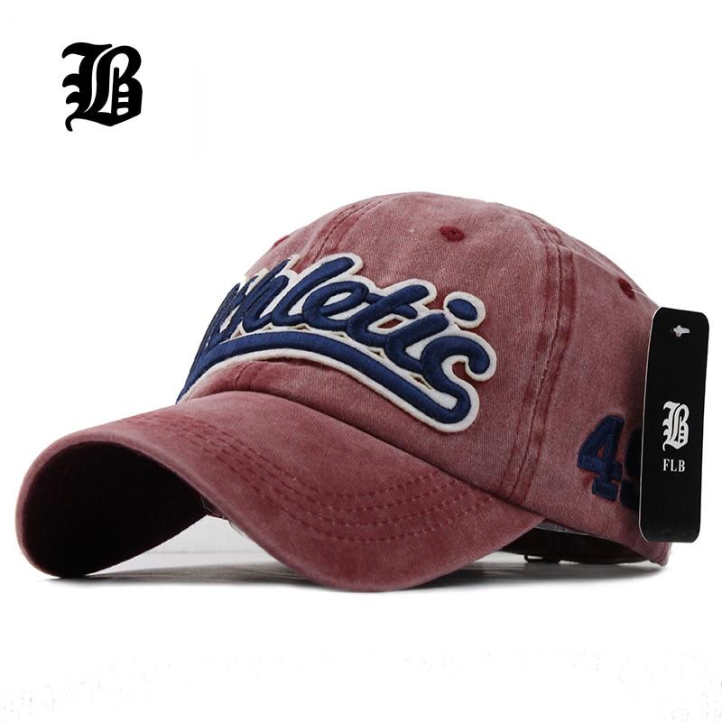 [FLB] 100% Washed Denim Baseball cap Snapback Hats Autumn Summer Hat for Men Women Caps Casquette hats Letter Embroidery Gorras