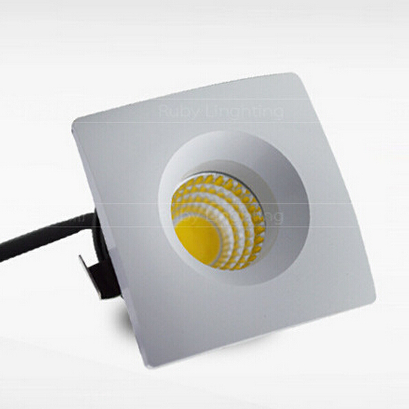 Wholesale price 3W Dimmable Foyer living sitting recessed micro miniature spot down light small mini COB square LED downlight in Downlights from Lights Lighting