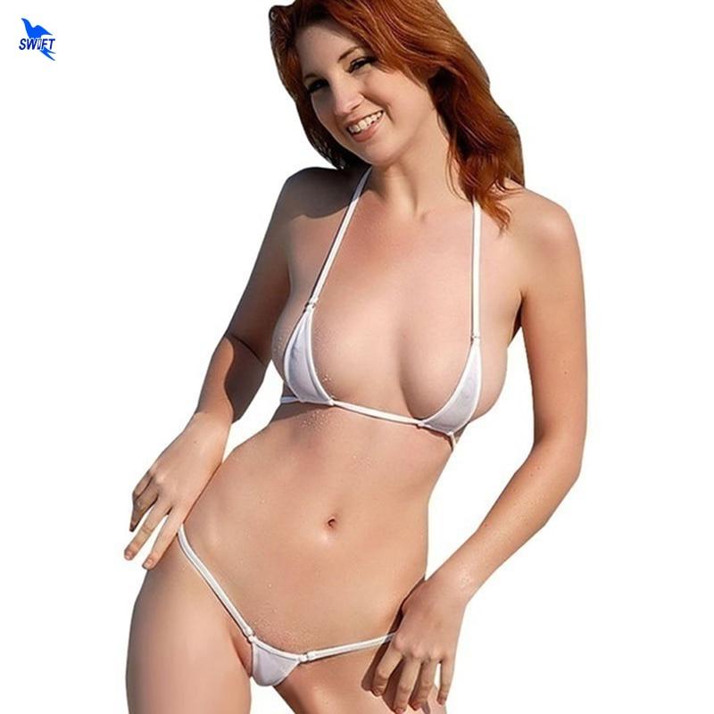 2020 Sexy Exotic Micro G-String Bikini Set Mini Biquini Extreme Thong Swimwear Beach Sunbath Costume Sex Bathing Suit Lingeries