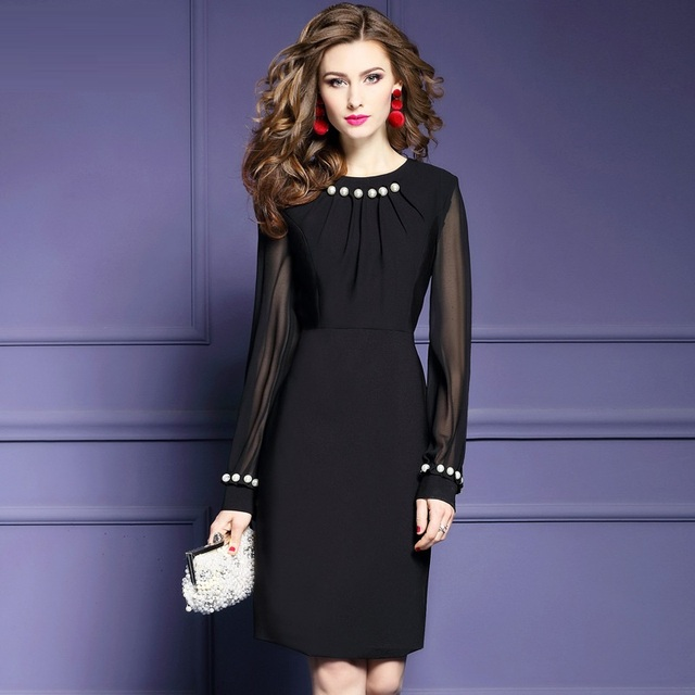 Work Office Business Cocktail Party Sheath Dress 2018 New Spring