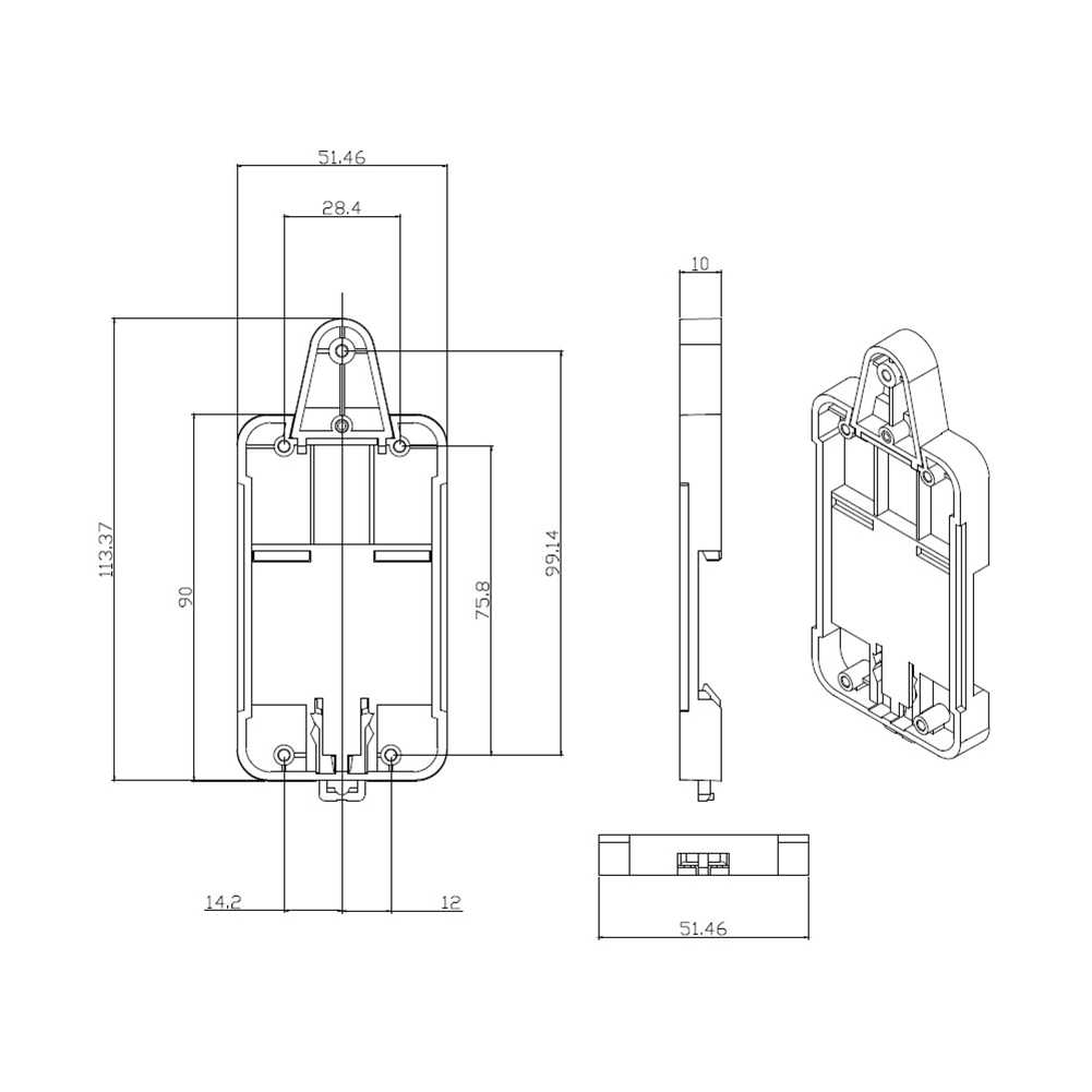 Sonoff Dr DIN Rail Tray Disesuaikan Dipasang Rel Case Pemegang untuk WiFi Remote Control Switch Sonoff BASIC/Rf/ pow/TH10/16/Dual