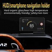 H6 Smartphone Projetor HUD Head Up Display Universal Carro Navegador GPS Montar Titular Suporte Do Telefone Do Carro Titular Não-Negro mat deslizamento