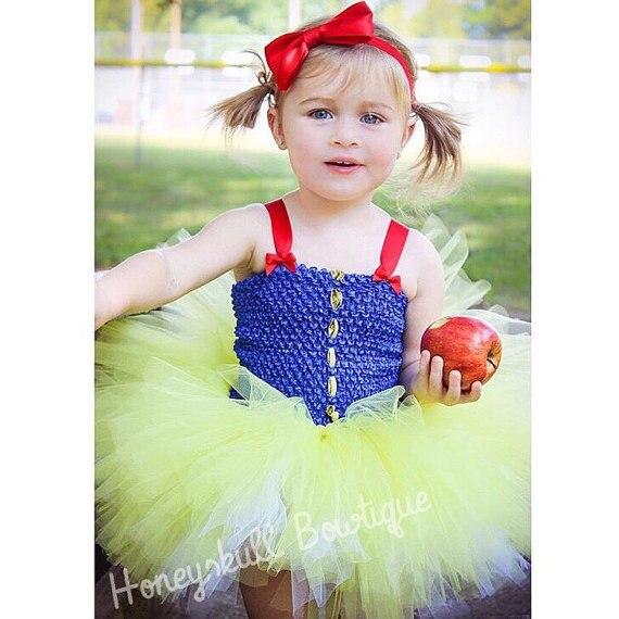 Snow White Girls Dresses Snow White KidsTutu Dress Red Yellow Royal Blue White Gold Snow White Costume Party Theme PT307 свитшот dc sugihara crew snow white