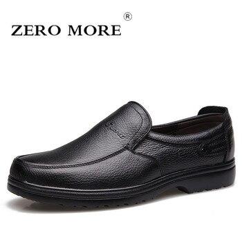ZERO MORE zapatos casuales para hombre Venta caliente de cuero Split negocios diseño Formal zapatos suaves hombres 2019 Slip On mocasines hombre zapatos casuales zapatos