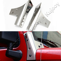 2pcs Chrome Stainless Steel For Jeep Wrangler 2007 2016 Car Hood Angle Wrap Covers A Pillar Trim Frame Car Styling