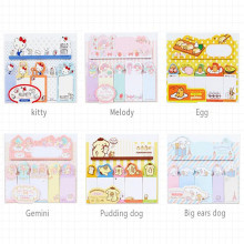 30pcs/lot Japan cute cartoon index sticky office message note sticky note paper 90 sheets self-adhesive bookmark removable недорого