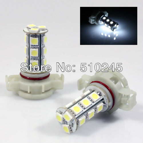 30x car led fog lamp 5202 H16 18 led smd 5050 18smd led light bulb lamp WHITE Free shipping