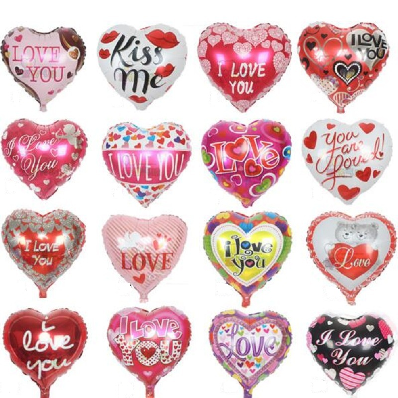 10pcs lot 18 39 39 i love you balloons valentine day wedding for Heart shaped decorations home