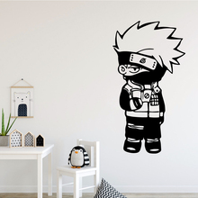Cartoon Naruto Kakashi Wall Decal Art Vinyl Stickers For Home Decor Living Room Bedroom Background Drop Shipping