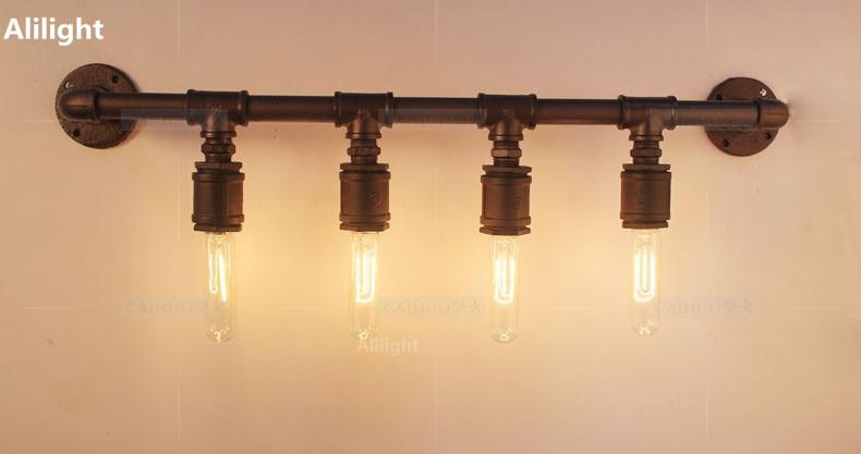 Edison vintage lampade da parete del tubo dellacqua loft luci
