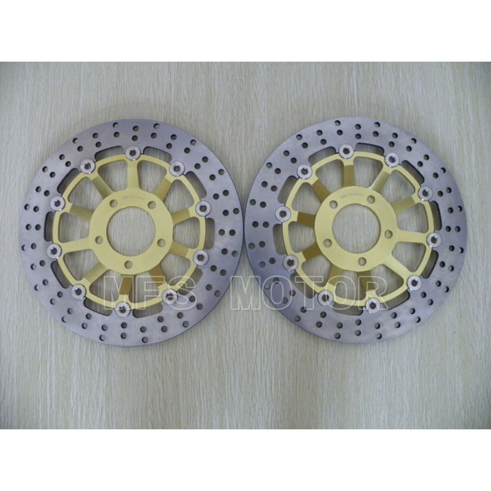 Motorcycle Front Brake Disc Rotor For Suzuki GSX 600 F 1989 1990 GSX 750 F Katana 1998 1999 2000 2001 2002 2003 Gold  motorcycle brake pads front disks for suzuki gsx 750 fw fx fy fk1 fk6 katana 1998 2206 motorbike parts fa231