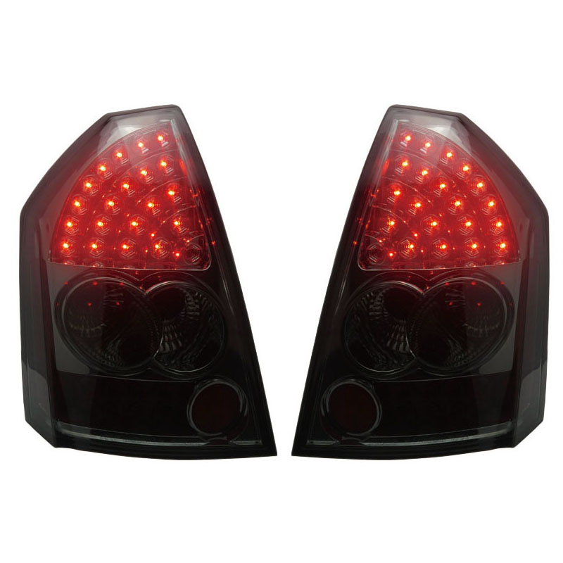 for 2005 2007 06 chrysler 300 300c led tail lights black lamps usa domestic free shipping for Chrysler 300C LED Tail lights Assembly Only fit 2005-2008 year models