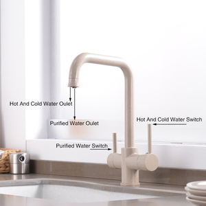 360 Degree Rotation brass drinking filtered water kitchen faucet Bend&Double right angle&Right angle Faucet Kitchen sink tap