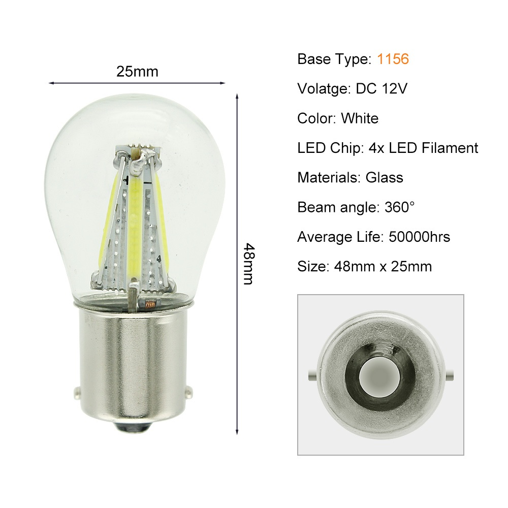 HTB16f5OaiHrK1Rjy0Flq6AsaFXa4 ANBLUB P21W BA15S 1156 1157 BAY15D LED Car Tail Brake Light Bulbs 12V COB Filament Auto Parking Lamp Reverse Bulb DRL Lights