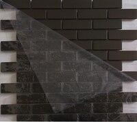 subway strip black color stainless steel metal mosaic for home improvement kitchen backsplash tiles bathroom shower tiles12x12
