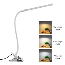 8W 24 LEDs Eye Protect Clamp Clip Light Table Lamp Stepless Dimmable Bendable USB Powered LED Desk Lamp(China)