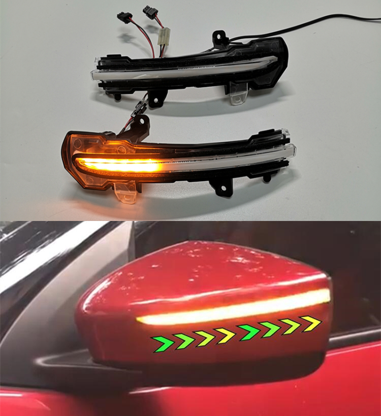 Accessories Dynamic LED Mirror Turn Signal Light For Nissan Note E12 Kicks P15 2016 2019 Car