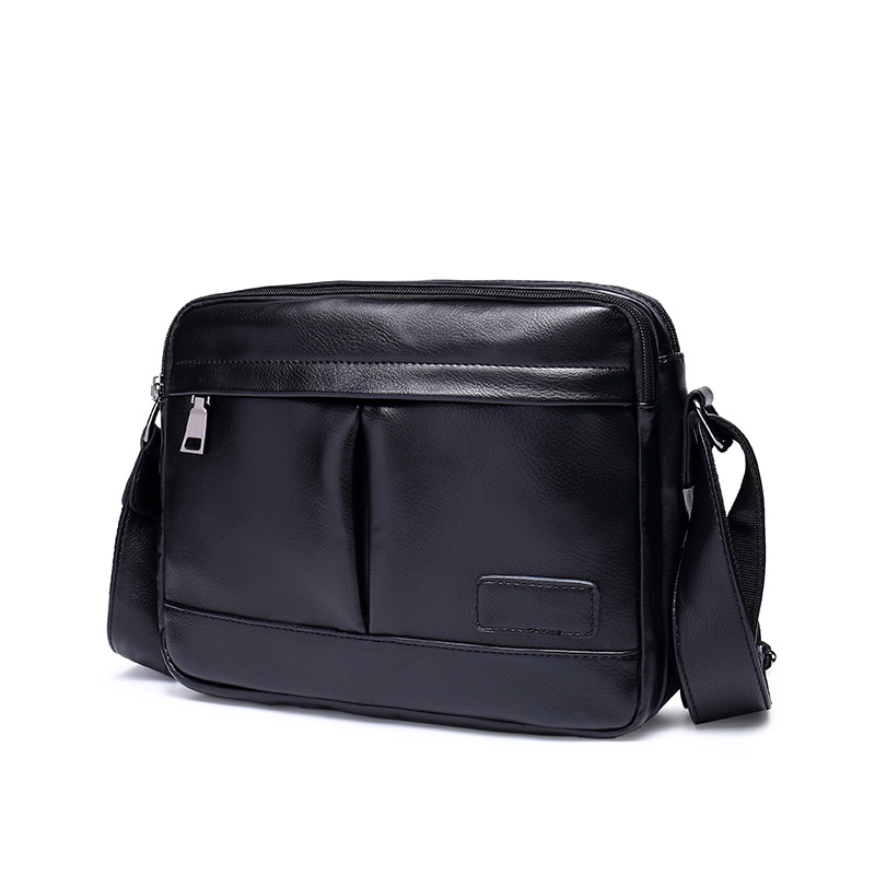 New Fashion Cowhide Man Messenger Bags Leather Male Cross Body Bag Casual Men Commercial Briefcase Bag Casual Trunk Handbags