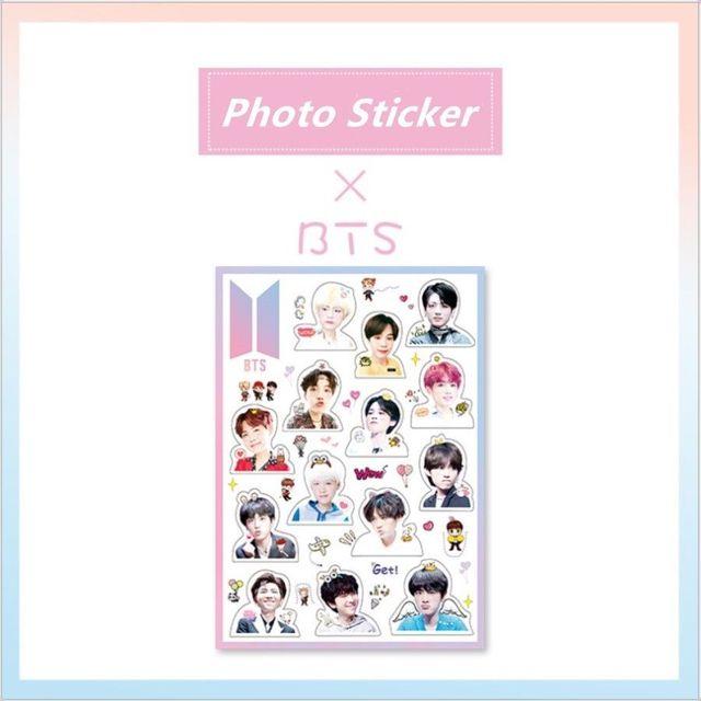 kpop bts jungkook v cute transparent pvc sticker for notebook laptop cellphone fridge diy stickers