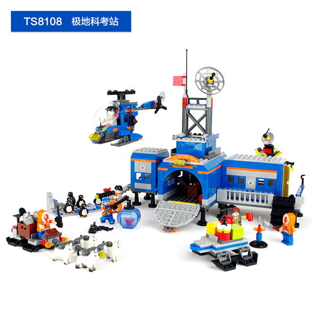 765 pcs Scientific Expedition Series Research Station Building Blocks Kids Toys Early Brain Traning Nerf TS8108(With Box)