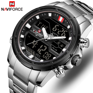 Image 2 - NAVIFORCE 男性腕時計スポーツクォーツデジタル男性の時計のボックスセットで販売男性軍事防水時計レロジオ Masculino