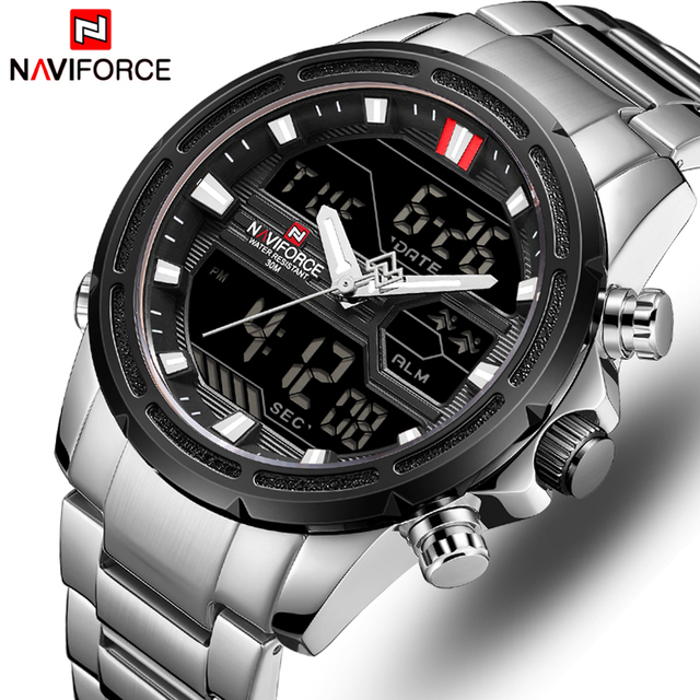 NAVIFORCE Men Watches Sports Quartz Digital Men's Clock With Box Set For Sale Male Military Waterproof Watch Relogio Masculino