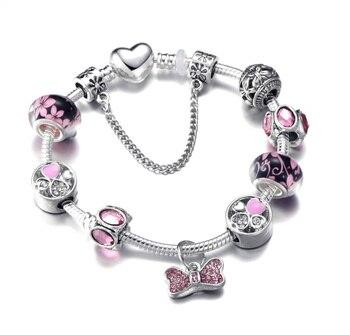 Cute Mickey Mouse Themed Bracelet Bracelets Jewelry New Arrivals Women Jewelry Metal Color: 4 Length: 18cm