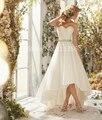 Vestidos De Noiva Sexy Summer Sweetheart Alto-Bajo Vestido de Novia Blanco Marfil Plus Tamaño Por Encargo Tamaño 2 4 6 8 10 A 20 W + +
