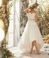 Vestidos De Noiva Sexy do Verão Querida High-Low Do Vestido de Casamento Branco Marfim plus Size Custom Made Tamanho 2 4 6 8 10 A 20 W ++