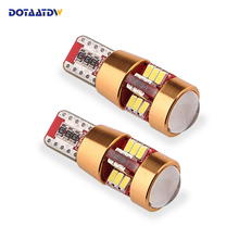2x t10 LED Bulb w5w led Lamp Car Lights Interior Super Bright 27 led 3014 SMD 194 168 12V 6000K White Turn Signal White Blue Red aslent 4pcs t10 w5w 194 led 3030smd car light bulbs auto lamp car door light turn reading lights ice blue white red yellow 12v
