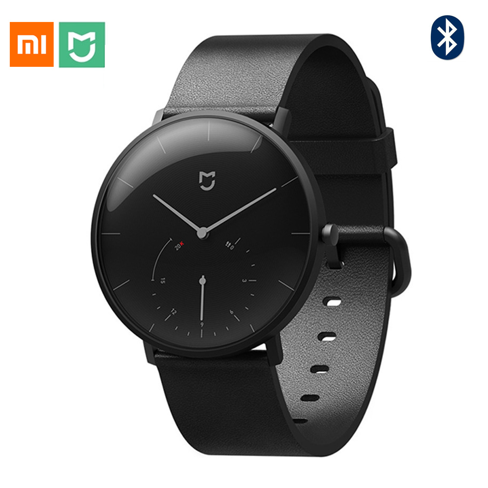 Xiao mi mi jia montre à Quartz intelligente podomètre étanche Smartband Bluetooth 4.0 mi Smartwatch calibrage automatique temps vibration