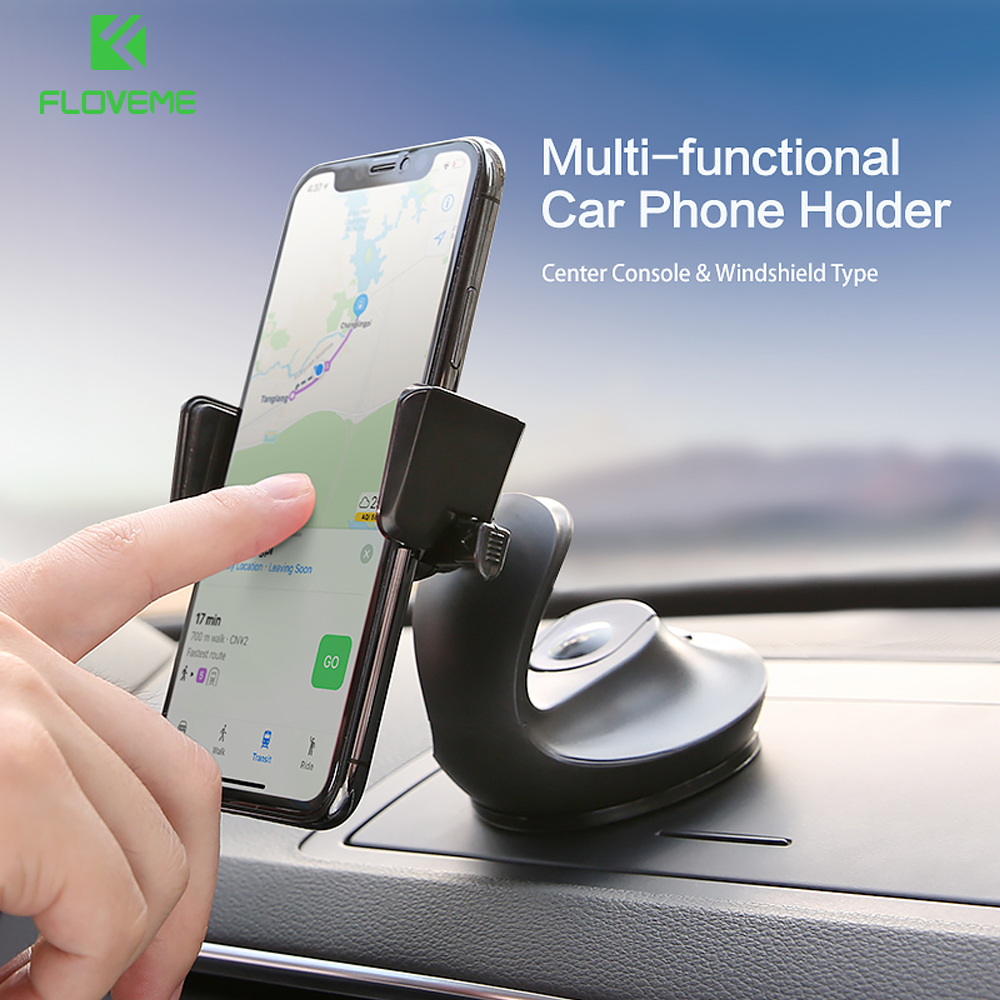 US $4 65 44% OFF|FLOVEME 360 Rotation Car Phone Holder For Samsung Galaxy  S8 Plus Auto lock Phone Stand Holder For iPhone Xiaomi Huawei Support-in