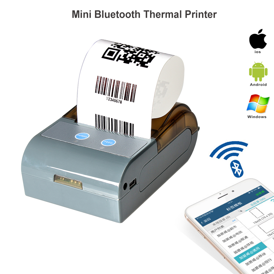 RUGLINE 58MM Bluetooth Thermal Printer Portable Wireless Receipt Machine For Windows Android iOS goojprt mtp ii 58mm bluetooth thermal printer портативная беспроводная приемная машина для windows ios