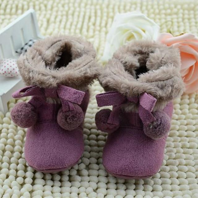 Bebé Botas de Nieve Caliente zapatos de Niño Nieve Zapatos del Pesebre para Gril Bebé Recién Nacido Primer Caminante Calzado 0-18 m