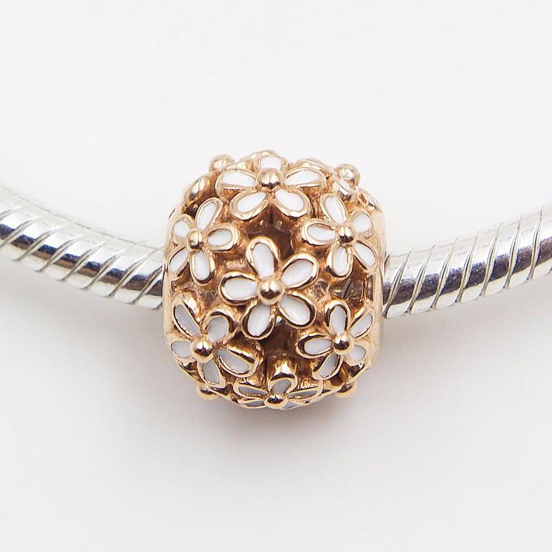 dd4757dc1 Fits Pandora Charms Bracelets Rose Gold Beads 100% Sterling Silver ...