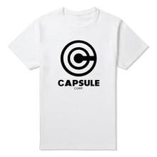 Capsule Corp Dragonball Logo T Shirt Casual Cotton Short Sleeve