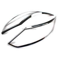 For 2015 2016 Nissan Qashqai J11 ABS Chrome Front Head Light Lamp Cover Trim Headlight Cover Exterior Car Styling Accessories
