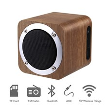 Retro Wooden Bluetooth 4.0 Wireless Speaker With FM Radio 1800mAh Rechargable Battery USB Support AUX TF Card MP3 Player Speaker