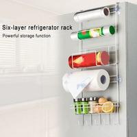 Multifunctional Multilayer Kitchen Storage Hanger Iron Refrigerator Side Shelf Rack Oganizer Tool XH8Z ST26