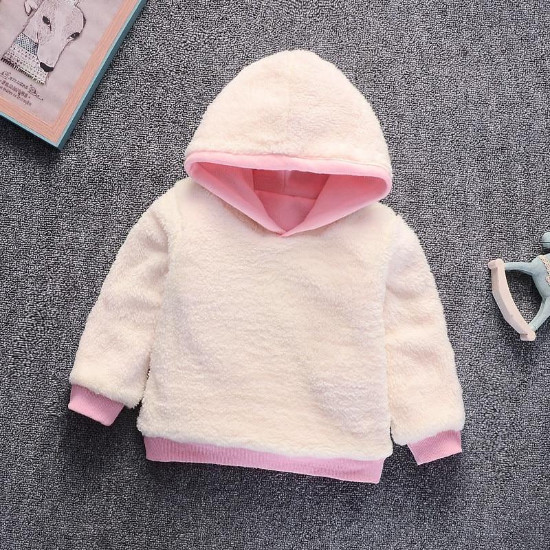Baby Girl Boys Clothes Winter Thick Warm Children's Sweatshirt  Toddler Casual Hoodies for Girls Kids Plus Velvet Tops Costume 4