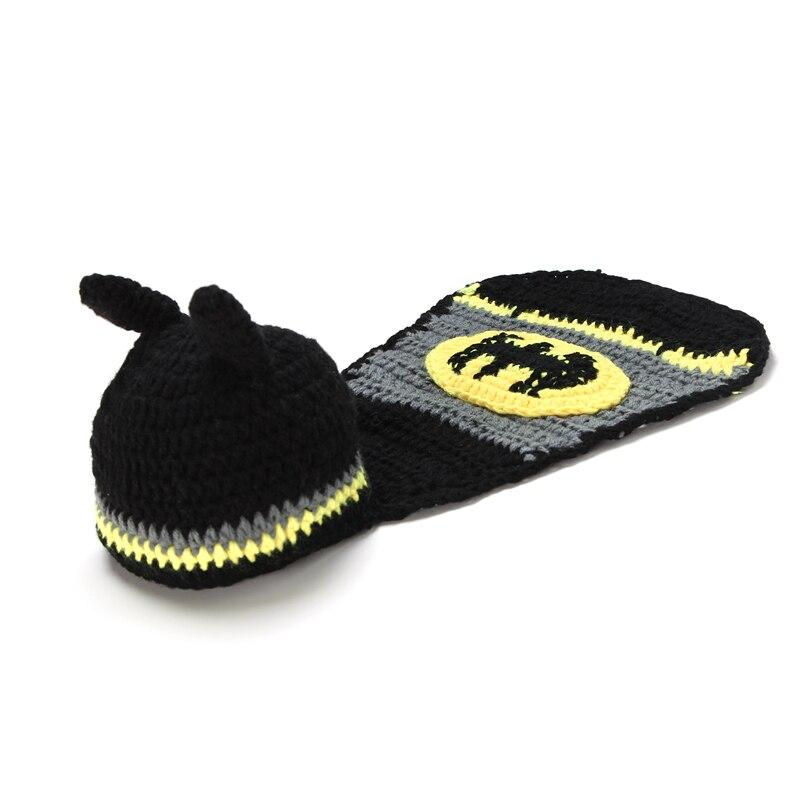 Batman hats infant hat factory aliexpress buy newborn baby batman hat crochet pattern infant photography props costume set handmade dt1010fo