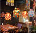 Марокканский турецкий стиль ретро винтажный подвесной светильник E27 база Средиземноморский стиль декоративная мозаика подвесной светильн...