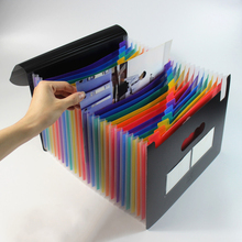 24 Pockets A4 Expanding File Holder sales folder Organizer Portable Business File Office Supplies Document Holder недорого