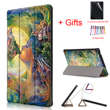 Auto Sleep/Wake Magnetic Case for Amazon Kindle Fire HD 10 2017 10.1″ Tablet PU Leather Protective Stand Cover+Film+Pen