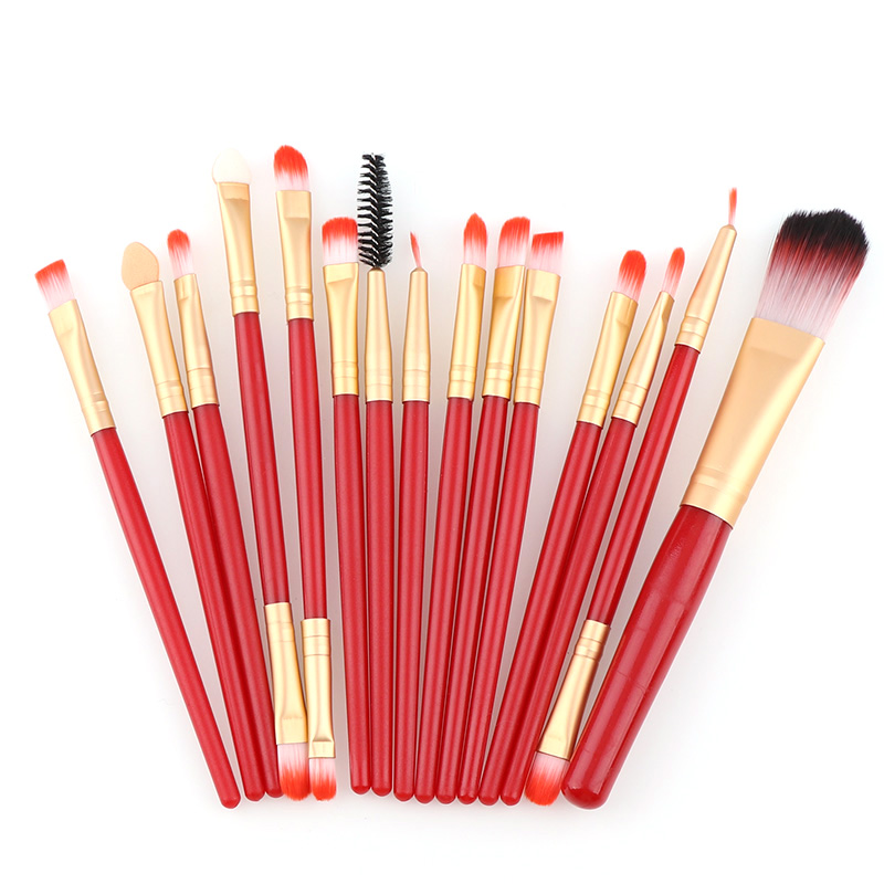 15 Pcs Makeup Brushes Set Foundation Eyeshadow Eyeliner Lip Brush Tool Make Up Eye Brush Set For Women Makeup Tools makeup brushes set tool 18 15pcs brushes