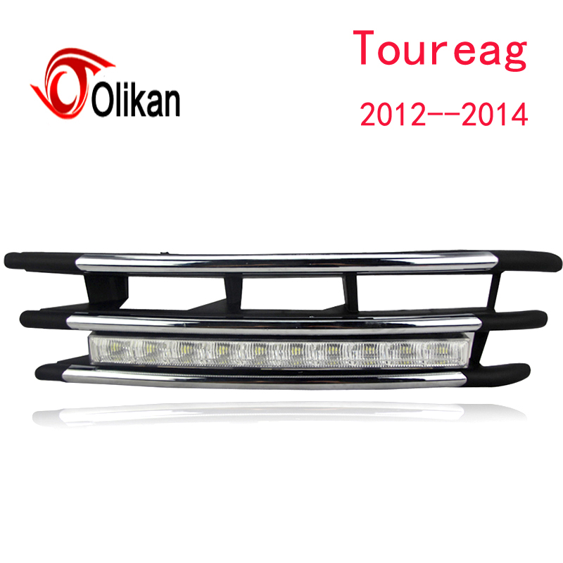 2PCs/set 12V car styling LED Car DRL Daytime Running Light for Volkswagen VW Touareg 2012 2013 2014