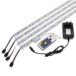 Image 2 - Bande lumineuse LED rigide de piscine, RGB barre de LED, 5050, 50cm, IP68, smd36 LED, 12V DC, avec interrupteur et adaptateur dalimentation