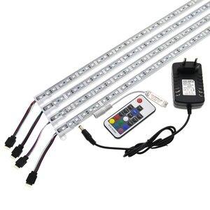 Image 2 - Barra de luz LED RGB de 5050, 50cm, IP68, SMD36LED, tira rígida de LED para piscina, cc 12V, con adaptador de corriente de interruptor