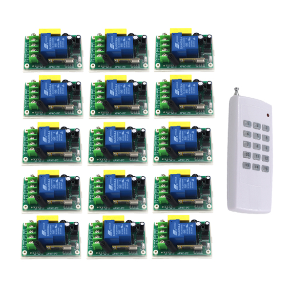 цены AC220V 30A 1000M 1 Channel Wireless Remote Control Switch 3000W High Power Relay 15 Receiver for Water Pump SKU: 5512